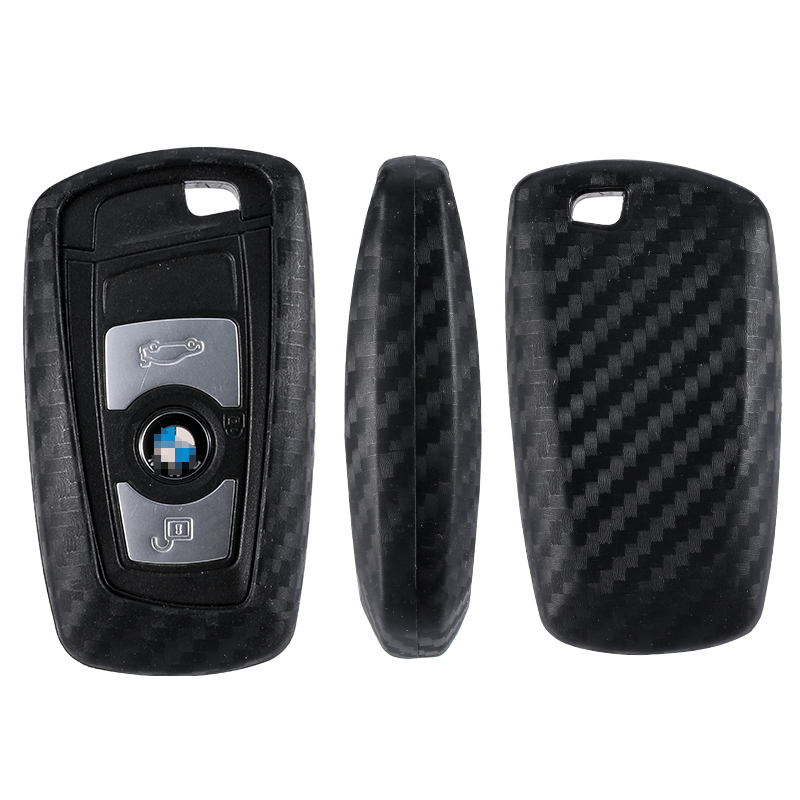 Image 2 - Car Key Case Cover Carbon Fiber For Bmw 1 3 5 7 Series X1 X3 X4 X5 X6 M3 M5 Z4 F20 F30 F10 E90 E60 E30 Car key Shell Protecor-in Key Case for Car from Automobiles & Motorcycles