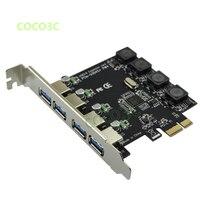 High quality PCI Express 4 USB 3.0 Card PCI e to External 4 Port USB3.0 Convertor NEC D720201 No external Power Supply