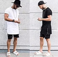Estilo verão homens t-shirt zíper lateral de prata estilo streetwear hip hop t camisas roupas da moda designer dos ganhos tshirt