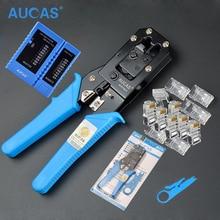 Aucas Многофункциональный RJ11 RJ45 обжимной инструмент Cat5 Cat6 обжимной инструмент RJ45 щипцы сетевой комплект инструментов