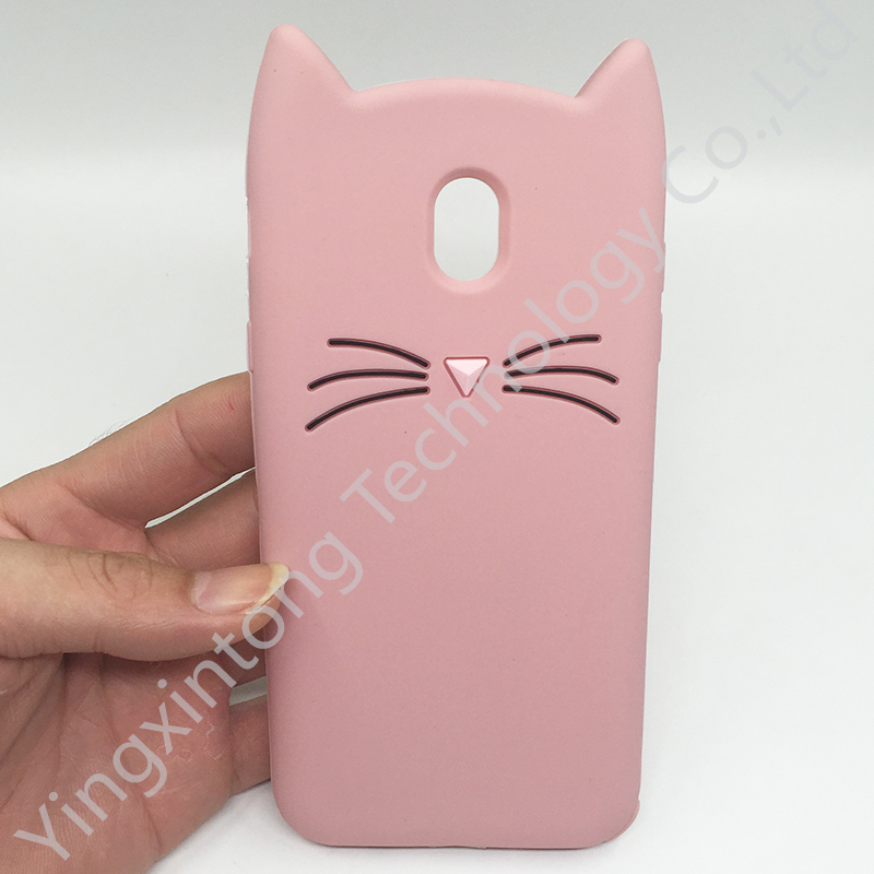Innovation For Samsung Galaxy J3 J5 J7 A7 A3 A5 2016 2017 Case Cute 3D Beard Cat Ears Animal Cartoon Soft Silicone Phone Cases in Fitted Cases from Cellphones Telecommunications