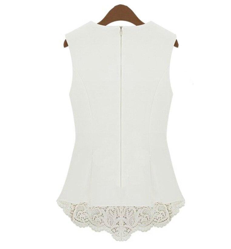 5649e6247b26e New 2015 Desigual Women White Lace Blouses Sexy Plus Size Crochet Lace Tops  Women Blusa Renda Sleeveless chiffon Shirts S 5XL-in Blouses   Shirts from  ...