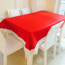 Hot Selling 132 178cm Super Long Christmas Tablecloth Christmas Red Table Cloth Christmas Decorations Free Shipping