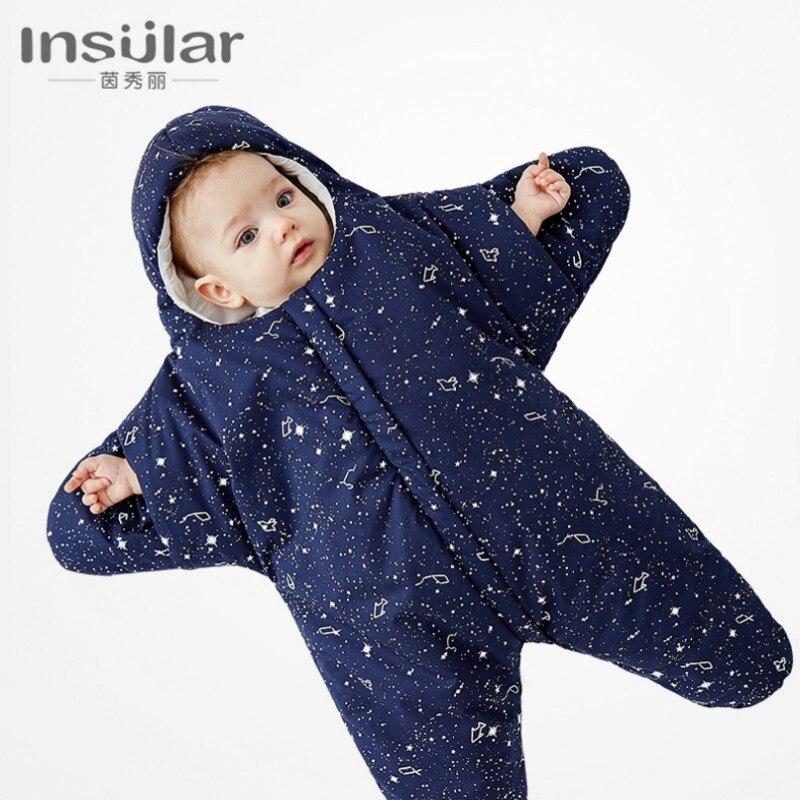 Детские спальный мешок хлопок сезоны Мультфильм Морская звезда детские спальный мешок держать для новорожденных 80x73 см