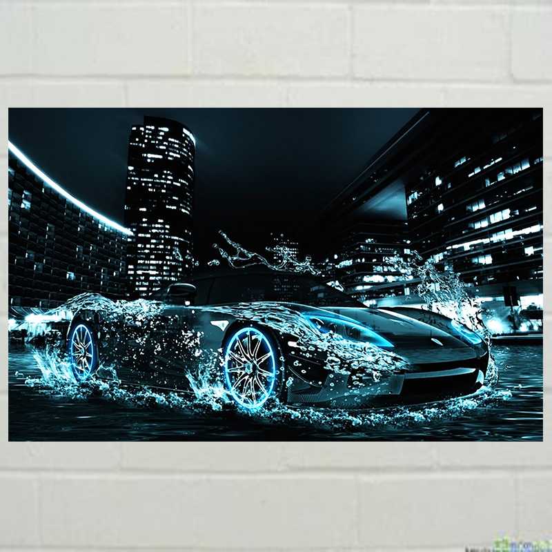 Nai Yue Diamond painting  DIY kit kid toy car in water oil painting art baby room living room home hotel office shop deco