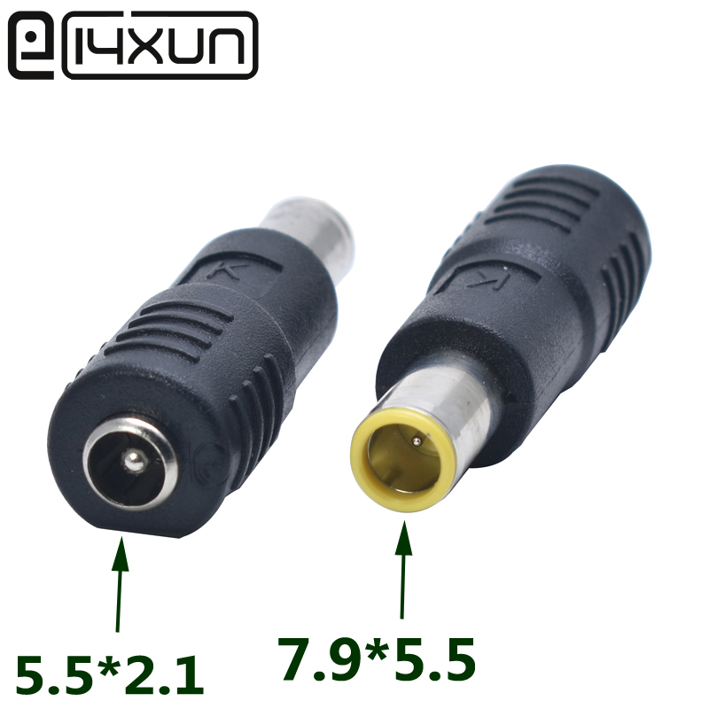 DC 7.9 x 5.5mm Female To Male Right Angle Power Connector Adapter for Lenovo IBM
