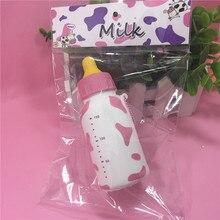 1PCS New package Jumbo 13CM Milk Bottle Squishy toys Slow Rising charm Retail original package stress relase toys jumbo soft