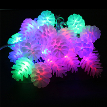 4M 20leds multicolor led string light Pinecone Waterproof with EU plug fairy lights for Xmas/New Year garland outdoor lighting