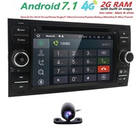 Wholesale! 2 Din 7 Inch Car DVD Player For Ford/Focus/Mondeo/Transit/C MAX/Fiest With GPS Navigation Radio BT 1080P Ipod FM Map