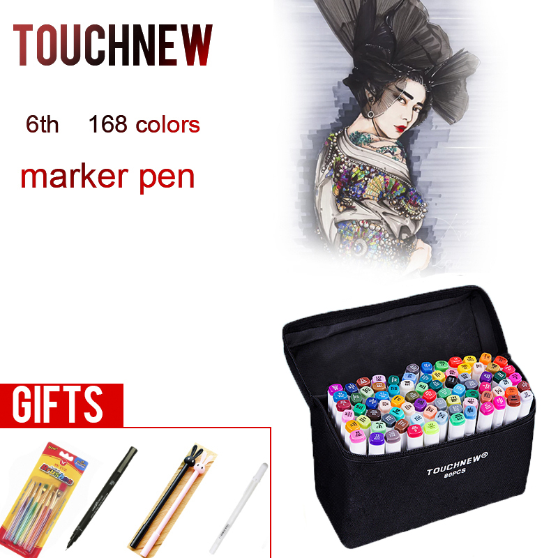 TOUCHNEW 30 40 60 80 168 Colors Markers Pen Painting Manga Art Marker Set Stationery Pen For School Sketch Markers touchnew 30 40 60 80 168 colors artist dual headed marker set manga design school drawing sketch markers pen art supplies
