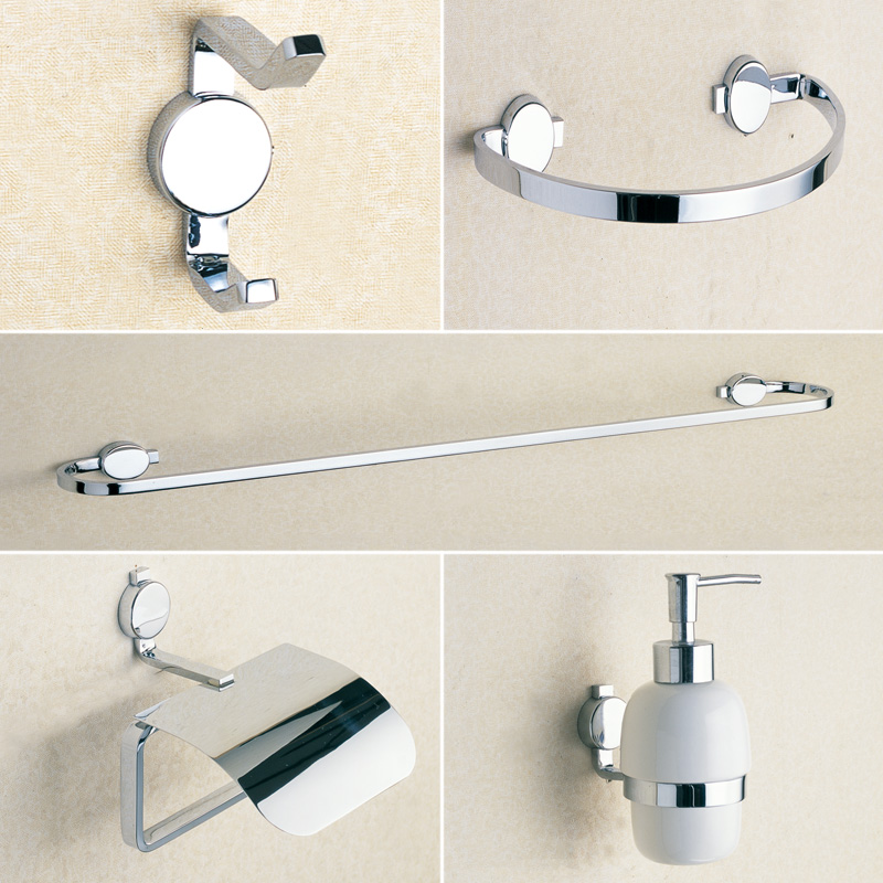 Chrome Hardware Bathroom Accessories Brass Liquid Soap Dispenser,Towel Rail,Coat  Hook,Towel Ring,Toilet Paper Holder 5 Pcs/set In Bath Hardware Sets From ...