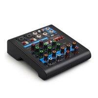 Oferta Finlemho DJ mezclador de Audio Bluetooth de la consola USB K4 profesional para el amplificador de