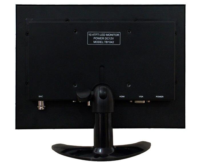 10.4 pulgadas cáscara de hierro BNC HDMI hd VGA AV entrada monitor - Periféricos de la computadora - foto 2