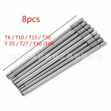 8PCS Hollow Screwdriver Bit 100/150MM Long Hollow Torx Magnetic Screwdriver Bit With Hole Plum Batch Head Screwdriver Bit(China)