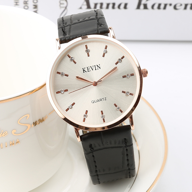 Kevin 2018 New casual Slim men quartz watch ultra thin leather watches classic w