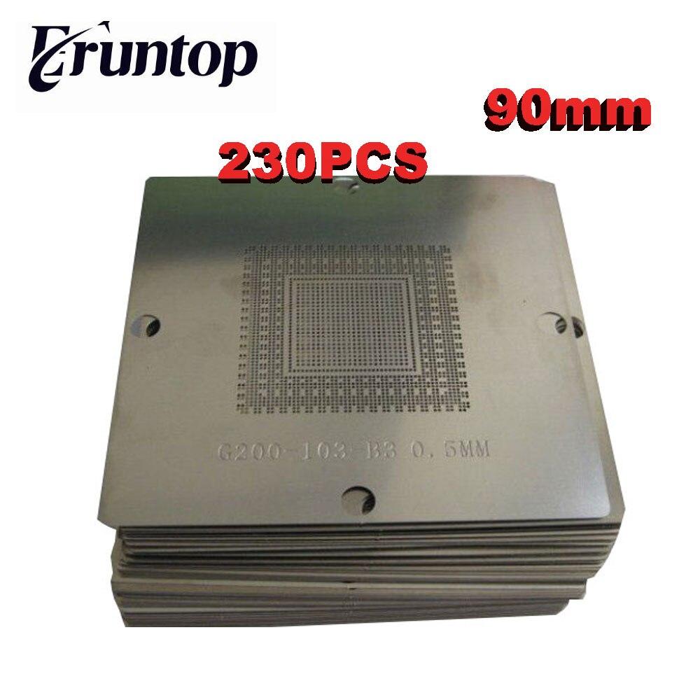 Latest 230 pcs/set 90x90 Bga Stencils Kit Bga Reball Stencil for Laptop Stencil ATI NV Intel DDR Game Consoel Chip