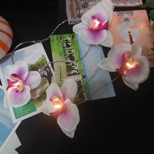 Image 2 - วันหยุดทำด้วยมือดอกไม้Orchid Light String,ตกแต่งคริสต์มาสงานปาร์ตี้/ใหม่ปีดอกไม้,อุปกรณ์งานรื่นเริงตกแต่งบ้าน