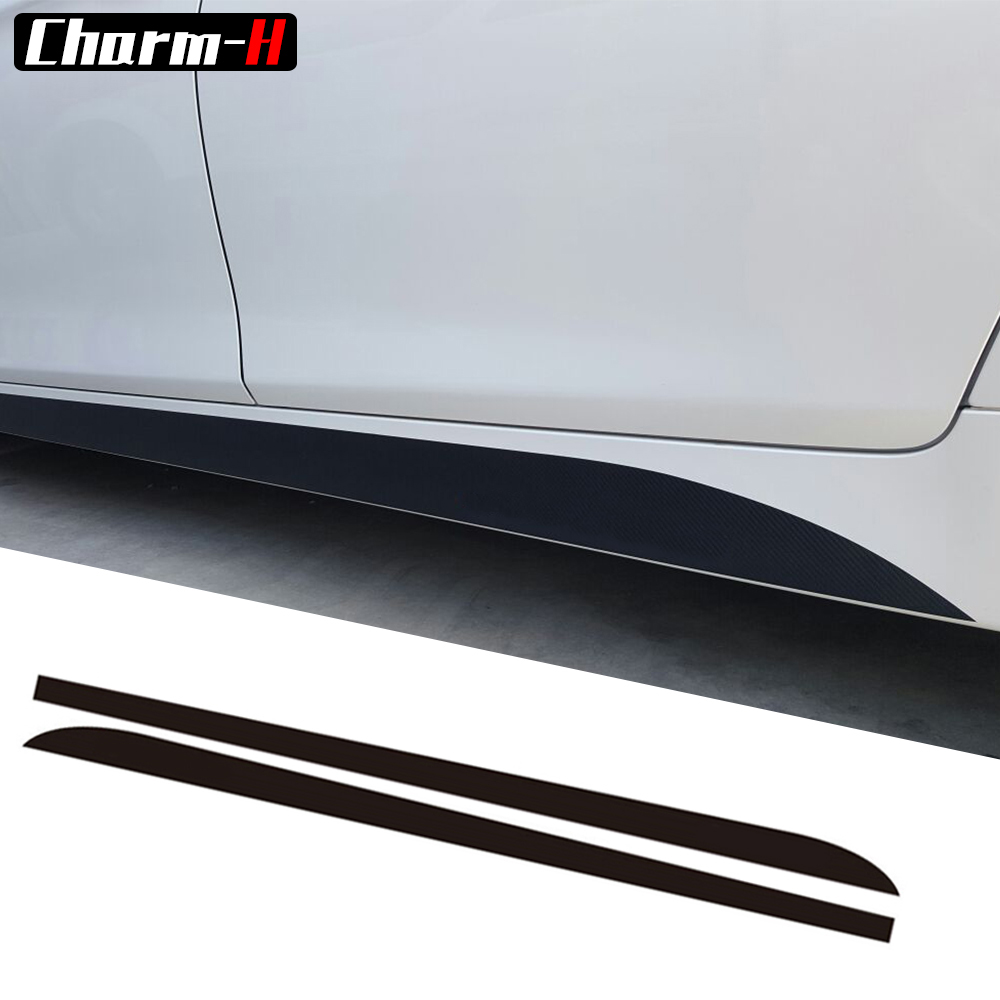 2Pieces M Performance Side Skirt Racing Stripe Vinyl Decal Sticker For BMW 5Series F10 F11 7 Series F01 F02 free shipping hilux racing side stripe graphic vinyl sticker for toyota hilux first impressions
