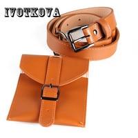 IVOTKOVA Women Waist Belt Bag High Quality Belt Packs for Young Lady Pu Leather Women Belt Purse Drop Shipping Waist Bags