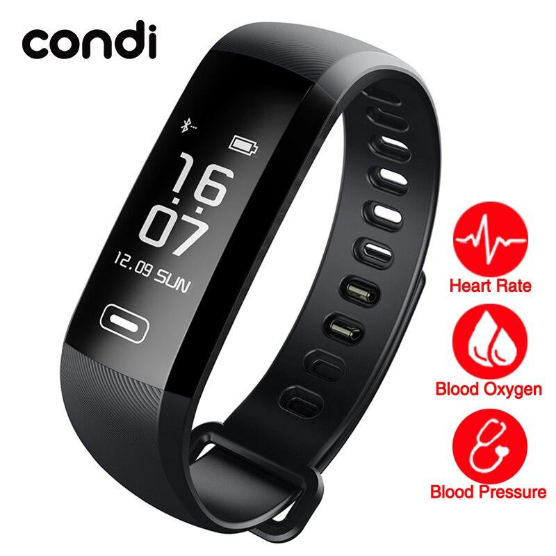 imágenes para Congdi R5MAX Inteligente Relojes Deportivos 50 Palabras de la Pantalla 0.96 Pulgadas de Pantalla de La Presión Arterial Monitor de Ritmo Cardíaco bluetooth Pulsera de Fitness