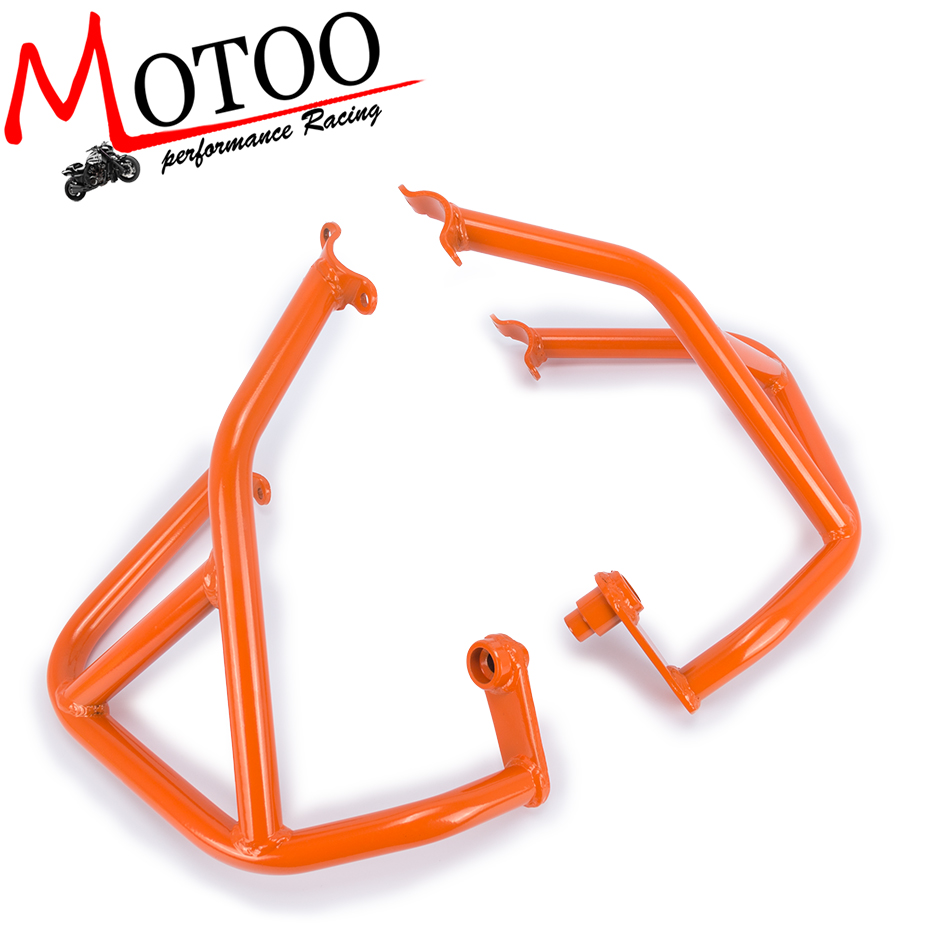 Motoo- For KTM DUKE 690 DUKE690 2013-2017 Motorcycle Accessories Engine Protetive Guard Crash Bar Protector high quality for bmw r1200gs 2013 2014 2015 motorcycle upper engine guard highway crash bar protector silver