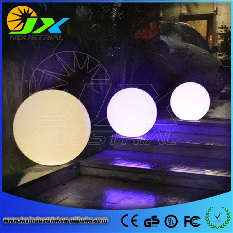 PE material, waterproof LED ball used in pool garden decoration