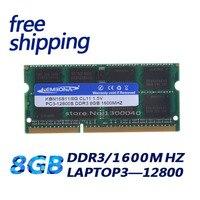 Kembona frete grátis ddr3 8 gb PC12800    RAM ddr3 1600 mhz 8 gb 1.5 v (para todos os placa mãe) SO DIMM ram ddr3 notebook memória|ddr3 1600mhz|ddr3 8gb|ram ddr3 -