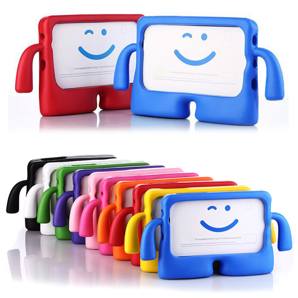 New 3D Kids Cute Cartoon Shockproof EVA Silicone Case for Samsung Galaxy Tab 3 4 7.0 P3200 T210 T230 T235 T110 Free Shipping metal ring holder combo phone bag luxury shockproof case for samsung galaxy note 8