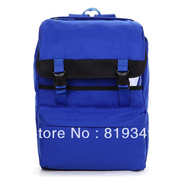 2013 NEW VANCL Unisex Danielle Colorful Nylon Backpack Polyester Lining Dual Push Buckle Fastening Blue FREE SHIPPING