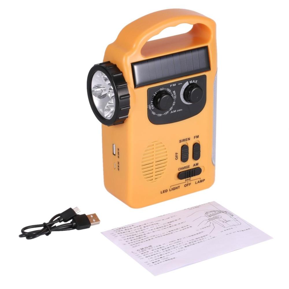 Portable Dynamo/Solar/Battery Powered Multifunctional Lantern with AM/FM Radio & LED Flashlight for Emergency Drop ship