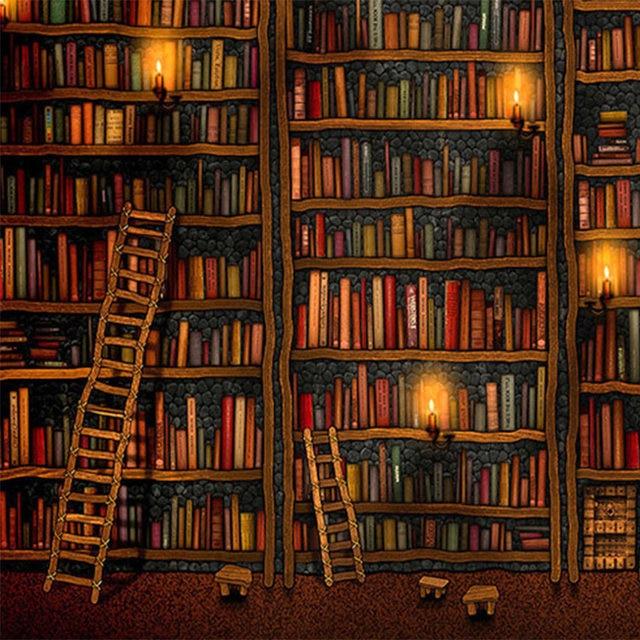 Online Shop 3D Wallpaper Classic Bookshelf Oil Painting Photo Mural