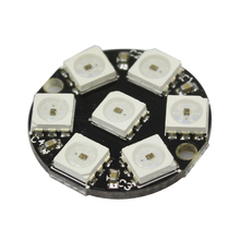 Smart Electronics 7 Bits 7 X WS2812 5050 RGB LED Ring Lamp Light with Integrated Drivers