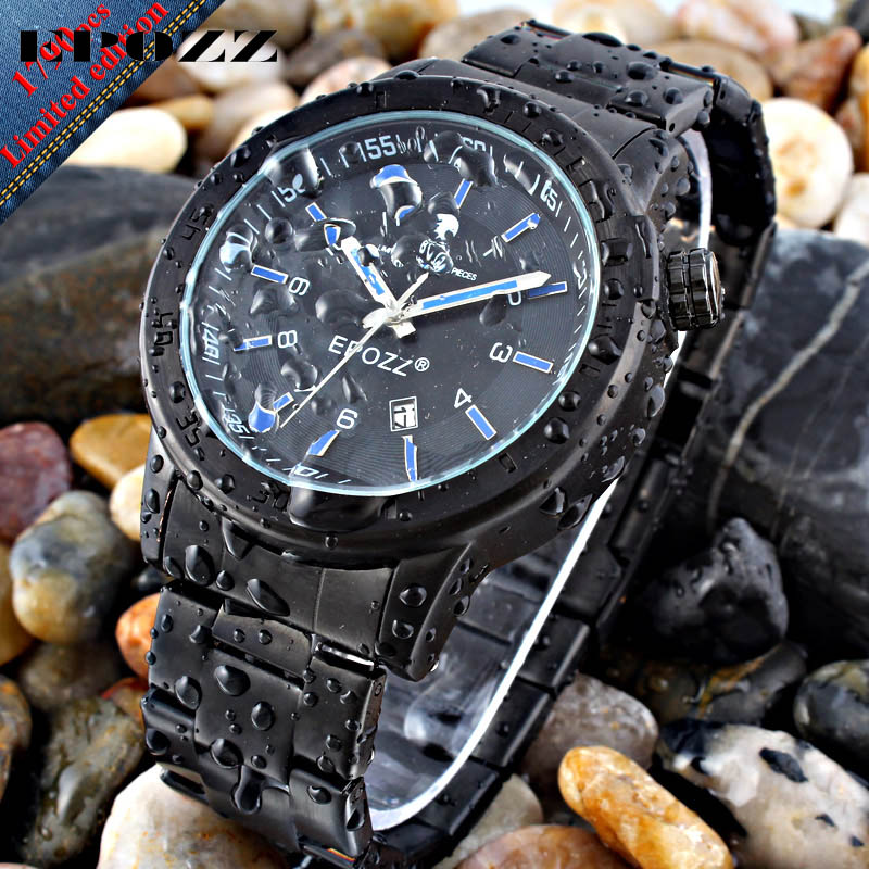 EPOZZ Brand new quartz watch for men sport date waterproof large dial oulm watches full steel strap top luxury clock 1601 epozz brand new quartz watch for men big dial waterproof stainless steel watches classic casual top fashion luxury clock 1602