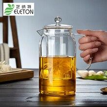 ELETON direktheizung glas teekanne große kapazität gerade körper verdicken transparentem glas topf tee-set drink happy hour