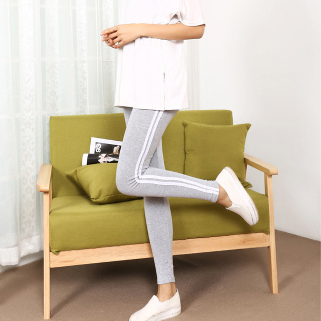 LGG022 Women Seamless Leggings for Adventure Time Bodybuilding Clothing Leggings Women Plus Size Leggings Stripe Cotton Leggings