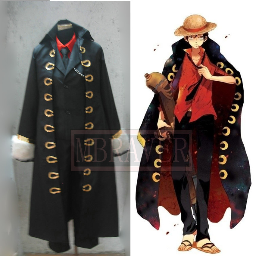 M?from Japan New!Official One Piece Monkey D Luffy Cosplay Costume Set ?Size