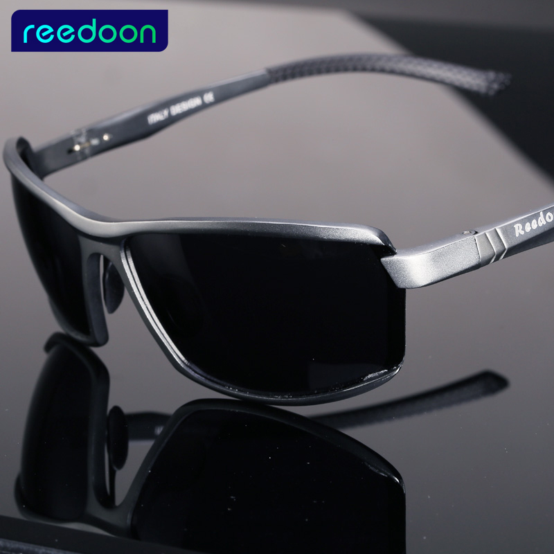 Click here to Buy Now!! REEDOON Aluminium Magnésium Marque Designer lunettes  de Soleil Polarisées Hommes ... c31539107e81