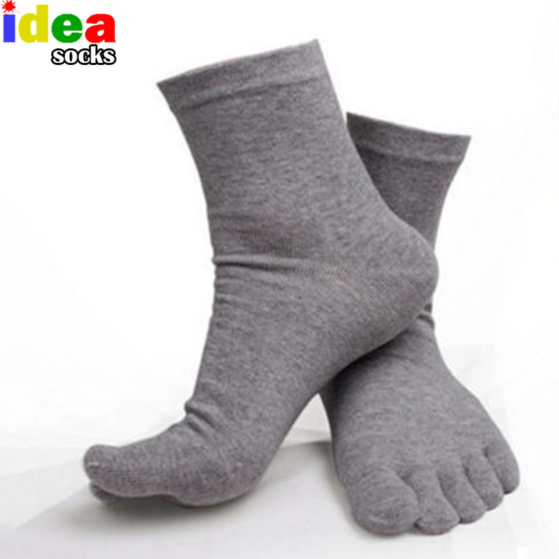 Summer Men Sheer Socks White Mens Five Finger Socks Pure Cotton Toe Socks Soks Calcetines Ideal Women Meias
