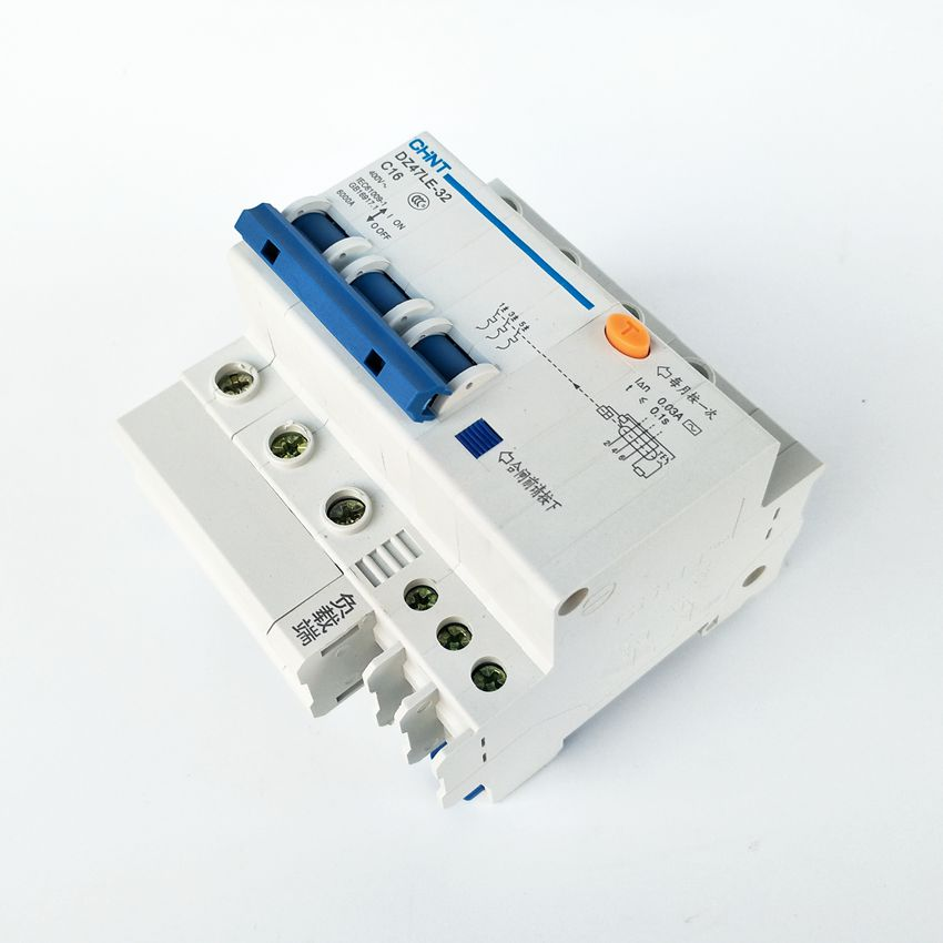 CHINT DZ47LE-32 3P C16A 30mA Earth Leakage Circuit Breaker/Residual Current Operated Circuit Breaker dz47le 3p n 40a 30ma 230 400v small leakage circuit breaker dz47le 40a household leakage protector switch