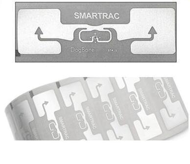 Smartrac rfid แบรนด์เดิมผู้ผลิต dogbone monza ชิป impinj r6 uhf rfid แท็กสติกเกอร์กาว inlay กับ epc ที่ไม่ซ้ำกัน TID