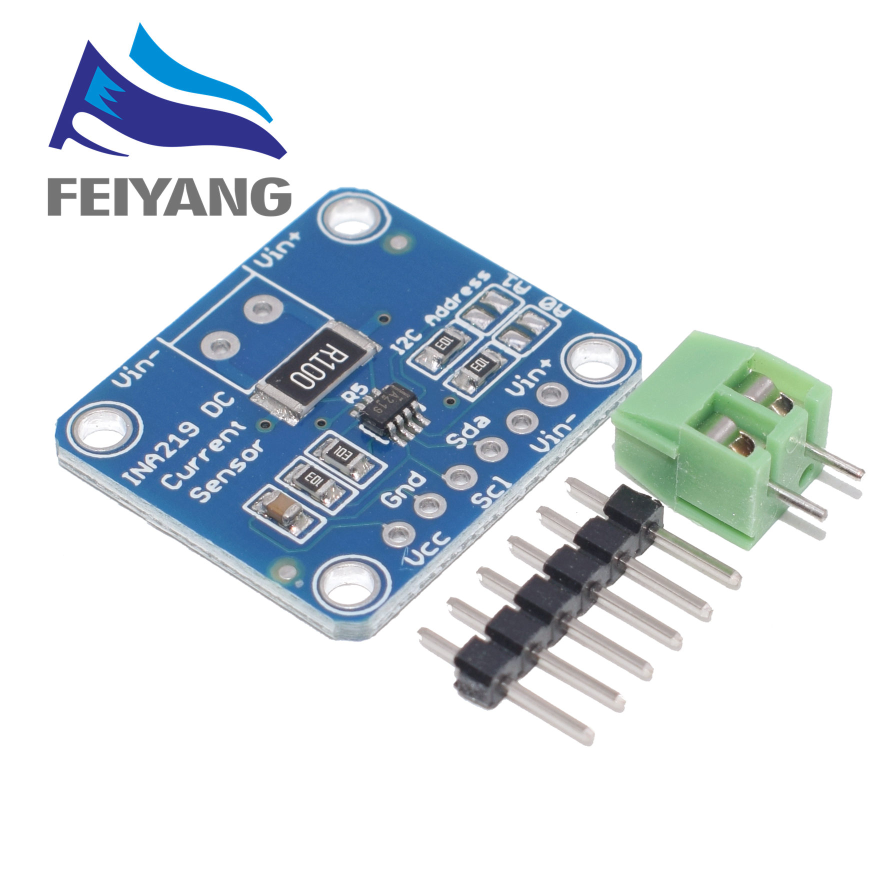 Image 3 - 10PCS INA219 GY 219 Current Power Supply Sensor Breakout Board Module Sensor Module I2C interface High Side DC Current DIY kitIntegrated Circuits   -