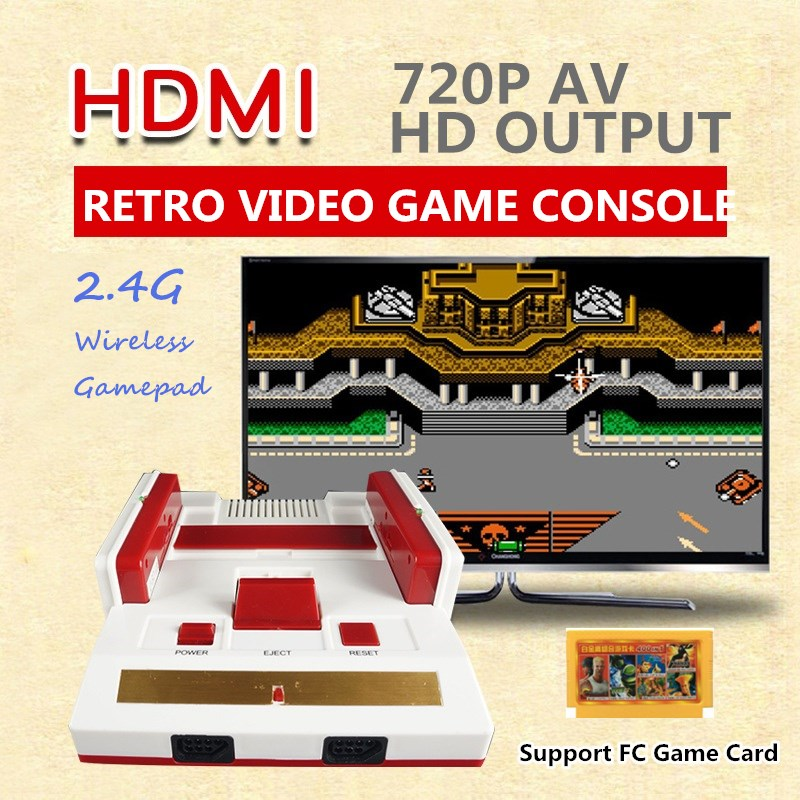 10Pcs/Lot 8 Bit 2.4G Mini HDMI AV Retro Video Game Console Built-in 88 Classic Games Handheld HD TV Family Video Game Player image