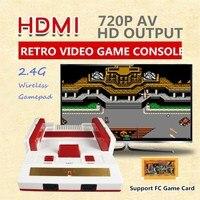 10Pcs/Lot 8 Bit 2.4G Mini HDMI AV Retro Video Game Console Built in 88 Classic Games Handheld HD TV Family Video Game Player