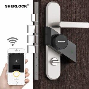 Image 3 - Sherlock S2 Smart Türschloss Hause Keyless Lock Fingerprint + Passwort Arbeit Zu Elektronische Türschloss Drahtlose App Bluetoot