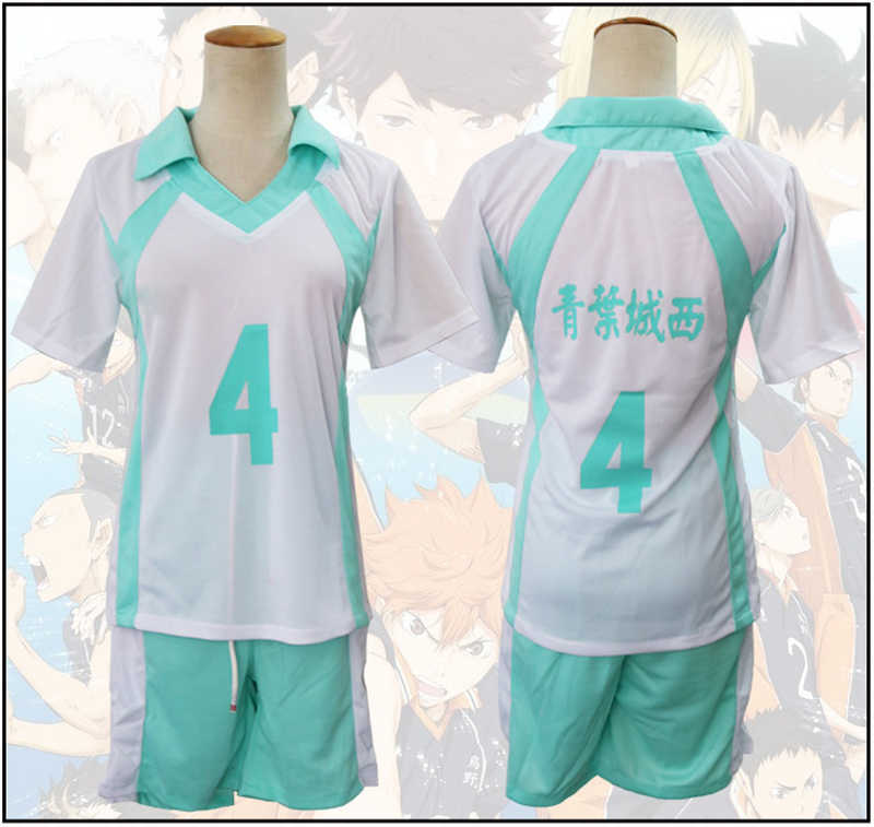 Anime Haikyuu!! Aoba Johsai VBC High School di Cosplay Oikawa Tooru Volley ball Club Jersey Costume Cosplay Uniforme Sportwear