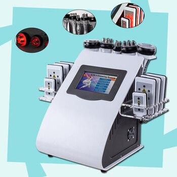2019 new 40k Ultrasonic liposuction Cavitation 8 Pads  lipo Laser Slimming Machine Vacuum RF Skin Care Salon Spa Equipment CE