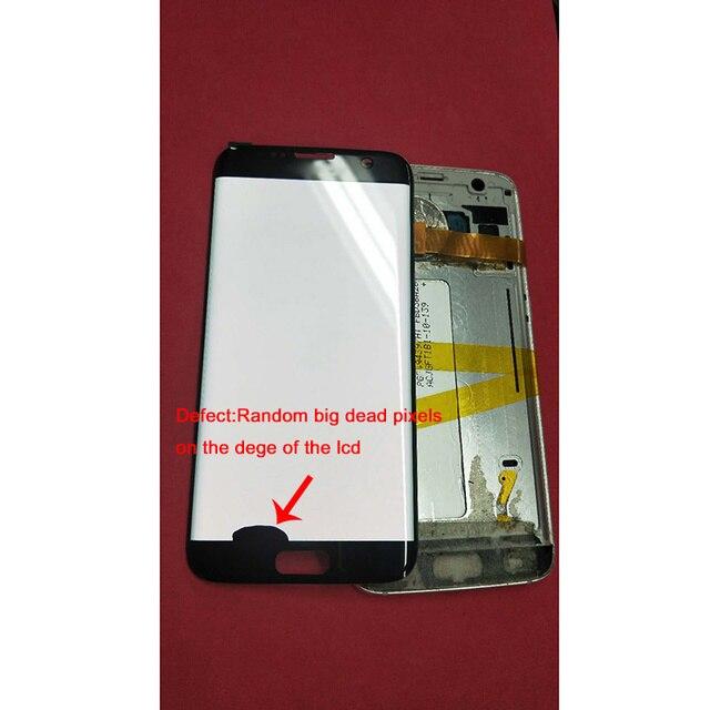5.5 بوصة amoled عرض LCD لا الإطار لسامسونج غالاكسي s7 حافة G935 G935F + مجموعة المحولات الرقمية لشاشة تعمل بلمس و الميت بكسل