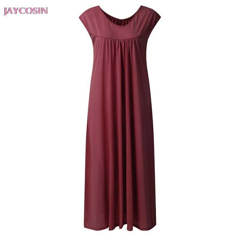 JAYCOSIN 2019 sukienka damska Vintage lato luźna długa koszula topy Baggy tunika Boho urocza plaża sukienka Plus rozmiar 3XL Drop #0601