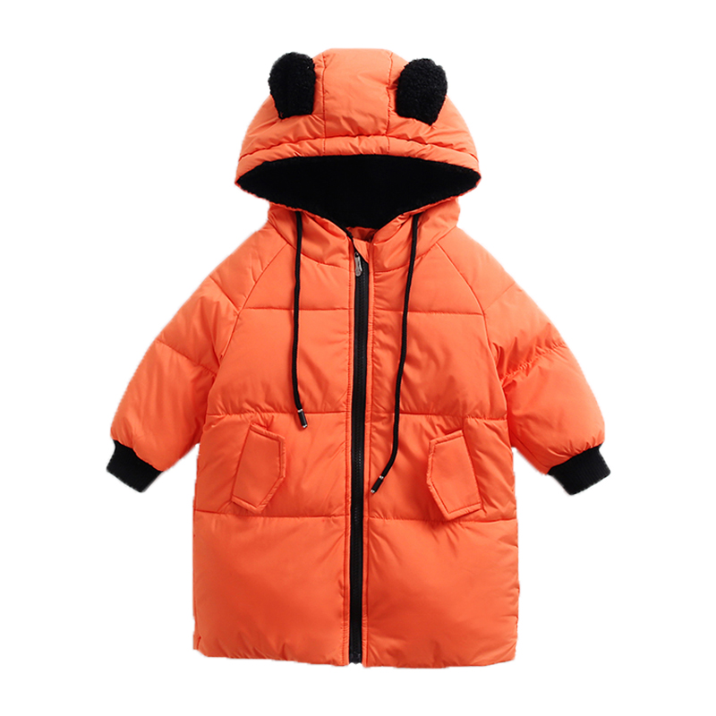 2017 winter kids mideum long warm coat cute baby boys girls cute faux ear hooded outerwear & coats duck down coat for children high quality children winter outerwear 2017 baby girls down coats jacket long style warm thickening kids outdoor snow proof coat