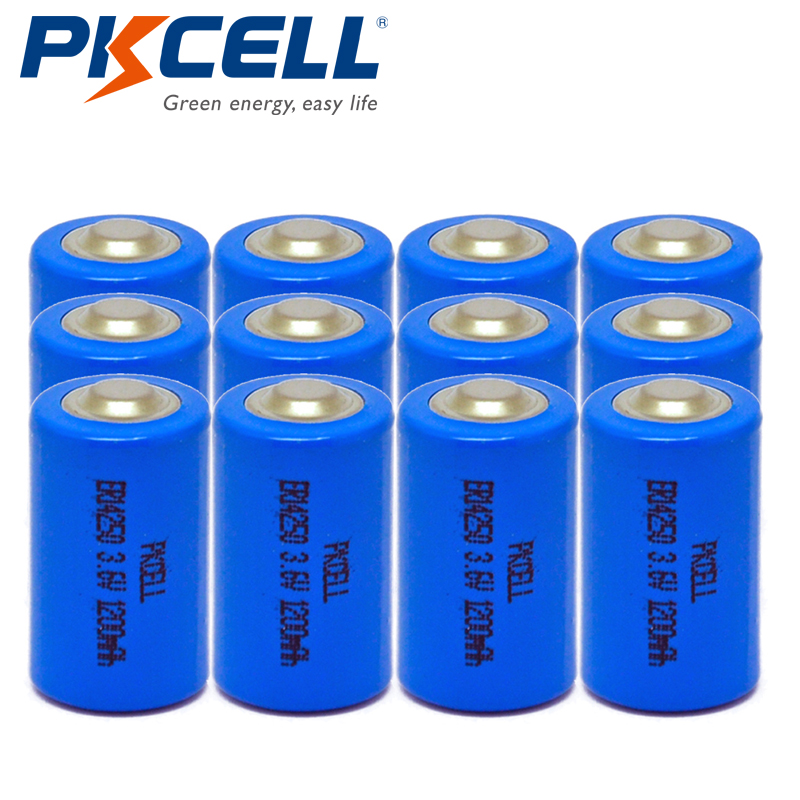 12pcs*PKCELL <font><b>1</b></font>/2AA Li-SOCl2 <font><b>Battery</b></font> 1200Mah <font><b>3.6V</b></font> ER14250 LS14250 <font><b>1</b></font>/<font><b>2</b></font> <font><b>AA</b></font> 14250 <font><b>Lithium</b></font> <font><b>Batteries</b></font> for Alarm Sensors image